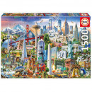 Puzzle 1500 pieces Symbols of North America