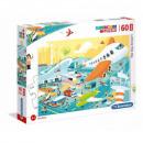 Puzzle of 60 pieces Maxi Super Color - Big flight