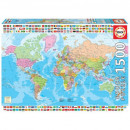 Puzzle 1500 pieces Political map of the world