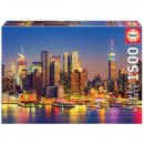 Puzzle 1500 pieces Manhattan by night / New York
