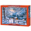 Puzzle of 1500 pieces Snow morning