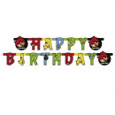 Banner Angry Birds - 180 x 15 cm - 1 units.
