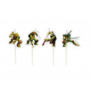 wholesale Candles & Candleholder: Candles Pilkers Mutant Ninja Turtles - 4 pcs.