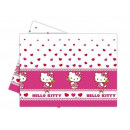 Birthday tablecloth Hello Kitty Heart - 120 x 180