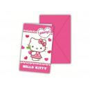 Birthday invitation with envelope - Hello Kitty -