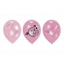 Ballons van Angry Birds Pink - 6 stuks.