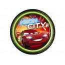 groothandel Licentie artikelen: Verjaardag Neon  Tumblers Cars Neon - 23 cm - 8 st