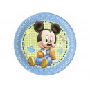Birthday tableware Small Mickey - 23 cm - 8 pcs