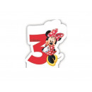 Kerzen Nummer Dreier 3 Minnie Mouse Cafe Kaffee