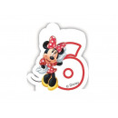 wholesale Party Items: Candle number six 6 Minnie Cafe Ka