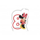 Kerze Nummer acht 8 Minnie Mouse Cafe Kaffee