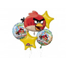 A bouquet of balloons foil Angry Birds - 1 set.