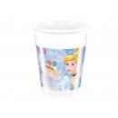 Cinderella birthday cups - 200 ml - 8 items