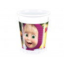 Birthday cups Masha and Bear - 200 ml -