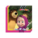 Birthday napkins Masha and the Bear - 33 cm - 2