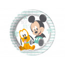 wholesale Party Items: Birthday tableware Small Mickey - 23 cm - 8 pcs
