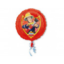 ballon feuille Fireman Sam - 43 cm - 1 pc.