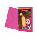 Birthday invitation Masha and the Bear - 1 item