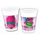 wholesale Party Items: Cups birthday Troll - 200 ml - 8 units.
