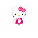 Foil balloon to stick hello kitty - 37 cm