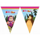 Banner flags Masha and the Bear - 230 cm - 1 pc.