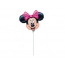 wholesale Party Items: Foil balloon for a stick - Minnie Mouse - 32 cm