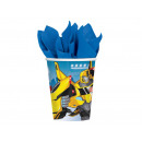 Cups birthday Transformers - 266 ml - 8 units.