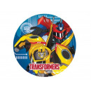 Plates birthday Transformers - 23 cm - 8 pieces.