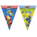 Banner flag Mouse Mickey and briskly Rally drivers