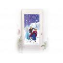 Foil decoration on the frozen door - Frozen -