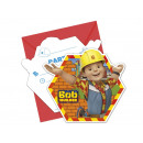 Verjaardagsuitnodiging Bob the Builder - 1 item