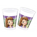 wholesale Party Items: Sofia cups birthday - Sophie - 200 ml - 8 units