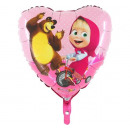 Foil balloon Heart of Bear and Bear - 45 cm - 1
