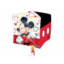 mayorista Articulos de fiesta: Foil cubo globo ratón Mickey - 38 cm - 1 s