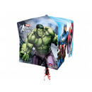 Foil balloon Cube Avengers - 38 cm - 1 pc.