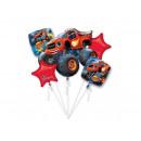 A bouquet of Blaze and Megamaszyna foil balloons -