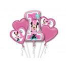 wholesale Party Items: A bouquet of foil balloons Minnie Mouse - 1 set.