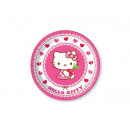 Birthday Plates Hello Kitty Hearts - 23 cm - 8