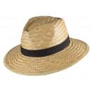 Sombrero de paja Best Man talla natural OneSize