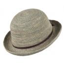 Cappello di paglia Flores cachi taglia S / M