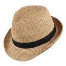 Chapeau de paille Jambi naturel taille S / M