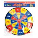 groothandel Gezelschapsspellen: schild met een bal / darts 35cm a014 velcro
