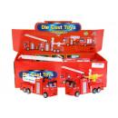 tűzoltó teherautó hang / könnyű húzza vissza 16cm