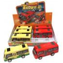 groothandel Speelgoed: bus geluid / licht trek 18cm terug op Display