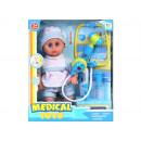 Puppenbox 30cm Baby + Zubehör 66001a 30 Fenster