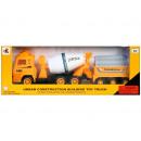 Großhandel Spielwaren: Auto LKW zurückziehen + Zubehör 35x13x9 888