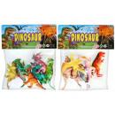 dinosaure 19x23x3 6pcs 836b petit sac avec un pend