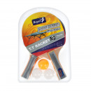 wholesale Sports & Leisure: ping pong paddle racket + 3pi 19x29x3 6678 50/100