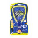 Großhandel Sport & Freizeit: Schläger + Ball auf Gummi 19x33x3 Blister