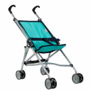 wholesale Toys: doll stroller umbrella met64cm turquoise pouch wit